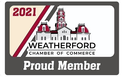 2021 Member Decal- Weatherford Chamber